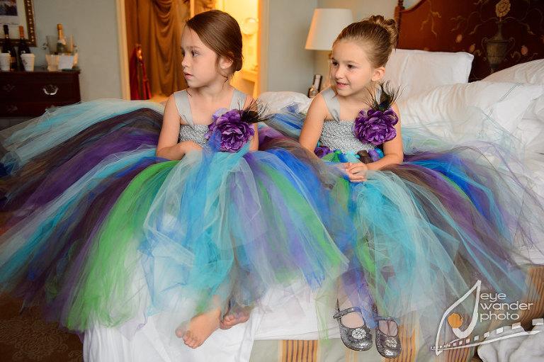 Children at Weddings Flower Girls colorful Tutus