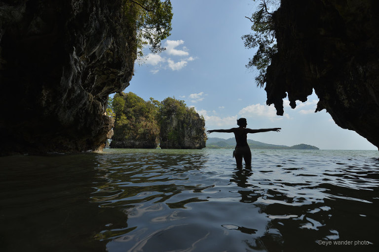 Thailand wading water