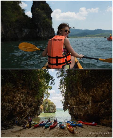 Krabi Thailand Kayaking girl