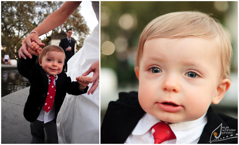 Kids At Weddings Baby Boy in suit Chubby Cheeks