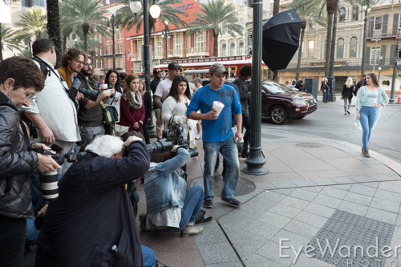 Lighting Workshop New Orleans, high school senior photography, photo class on Canal Street